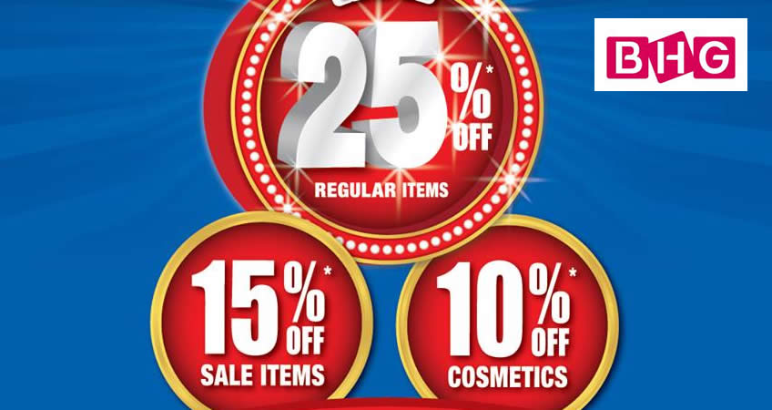 Bhg s super sale returns with increased discounts enjoy for Bhg shopping