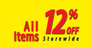 Featured image for Japan Home throws 12% OFF storewide sale at all outlets from 1 – 9 Apr 2017