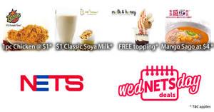 Featured image for Enjoy special deals at Hong Kong Sheng Kee Dessert, Milk & Honey, Texas Chicken & Mr Bean with NETS on Wednesdays from 5 – 26 Apr 2017