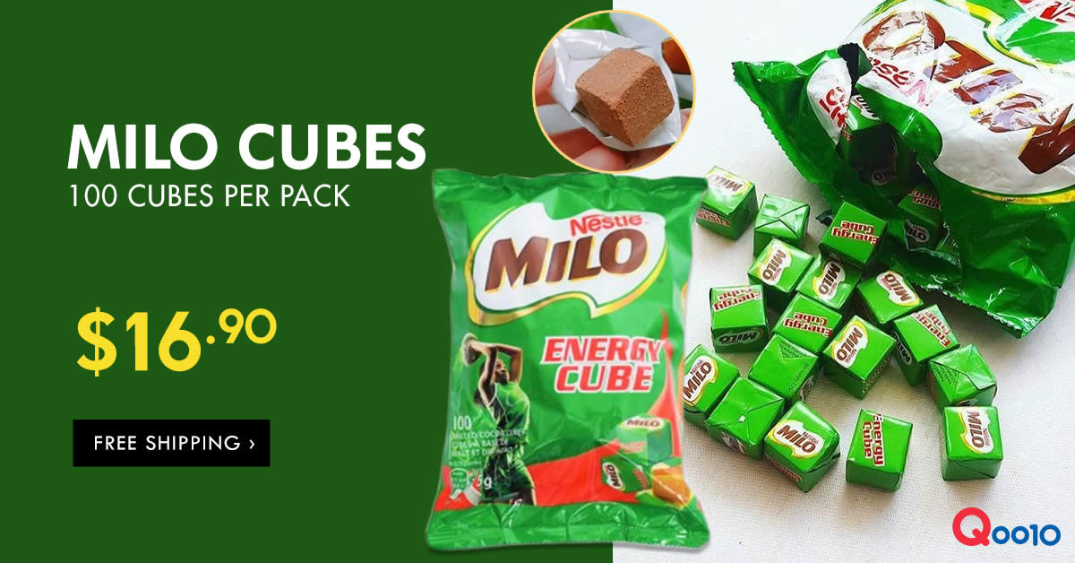 Nestle Milo Energy Cubes are going at a deal at Qoo10 from ...