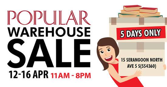 POPULAR Warehouse Sale feat 3 Apr 2017