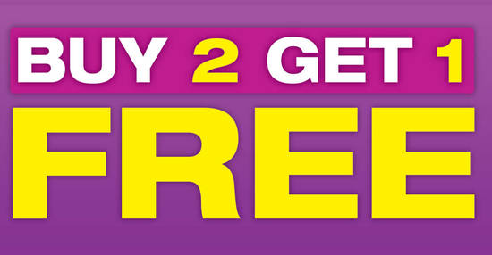 Image result for buy 2 get 1 free