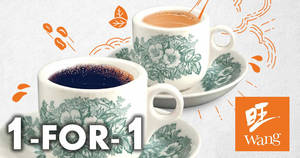 Wang Cafe & Heavenly Wang: 1-for-1 Hot Kopi / Teh beverages all-day on 18 December 2019