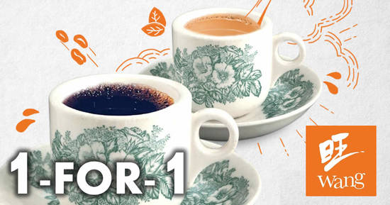 Featured image for Wang Cafe: 1 for 1 promotion for Kopi/Teh cups at all Wang Cafe & Heavenly Wang outlets on 30 July 2021