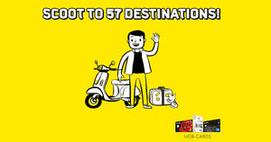 Featured image for 20% off 57 Scoot and Tigerair's destinations with UOB cards! Valid from 31 May – 3 Jun 2017