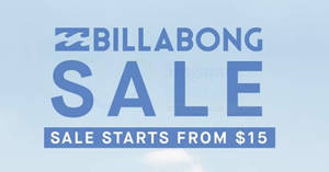 Featured image for Billabong Pop-Up sale at 313@somerset from 13 – 21 May 2017