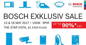 Featured image for Bosch up to 90% off exclusive sale at Star Vista from 15 – 16 May 2017