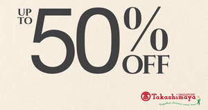 Featured image for Coach up to 50% OFF special sale at Takashimaya from 18 – 23 May 2017