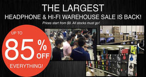 Featured image for Hwee Seng's headphone & hifi warehouse sale returns with up to 85% off from 26 – 28 May 2017