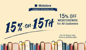 Kinokuniya: ALL customers enjoy 15% off books at online store! Only on 21 Feb 2018