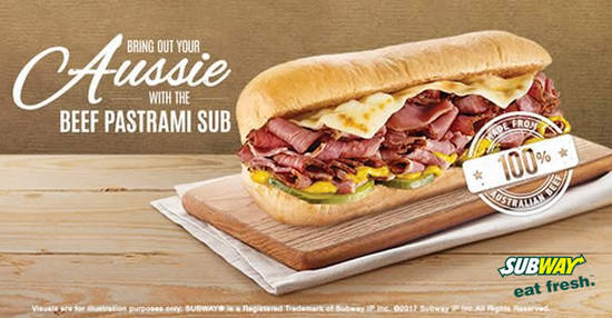 Featured image for Subway launches new Beef Pastrami Sub! Available for a limited time from 15 May 2017