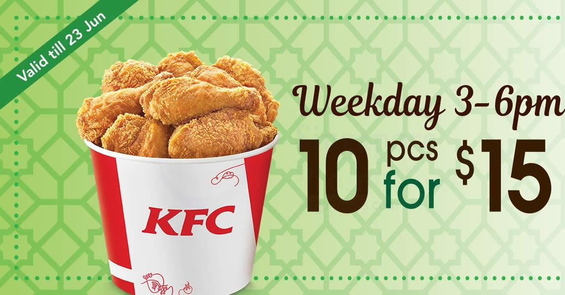 Kfc Pcs Chicken Only Valid Weekdays