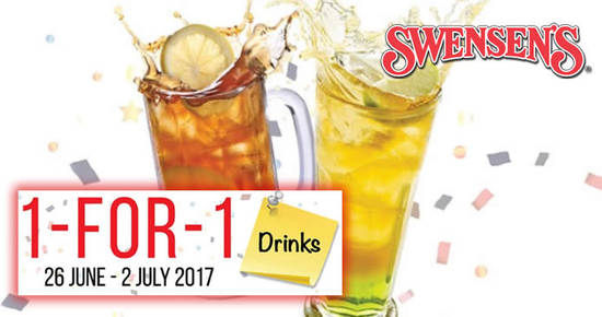 Swensens 1for1 drinks feat 16 Jun 2017