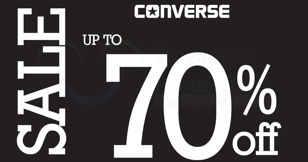 Converse  Up to 70% off sale at Bugis Junction! From 24 – 30 Jul 2017 30149eabd