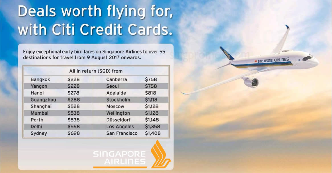 Singapore airlines fares fr 148 all in return to over 55 singapore airlines fares fr 148 all in return to over 55 destinations with citi credit cards book from now till 31 jul 2017 reheart Gallery