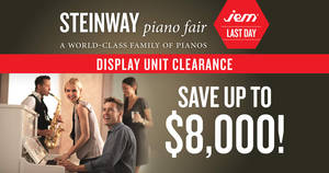 Featured image for Steinway Piano Fair: Display Unit Clearance at JEM till 30 Jul 2017