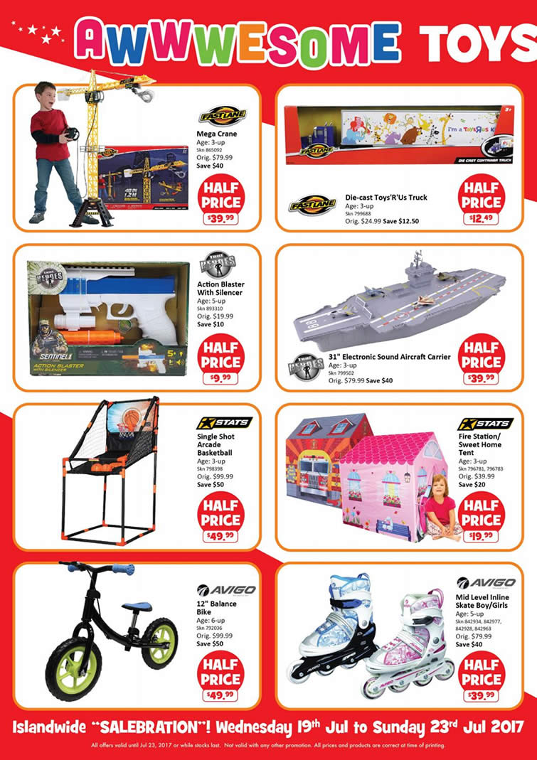 """Toys R Us Prices : Toys """"r us more islandwide half price specials on over"""