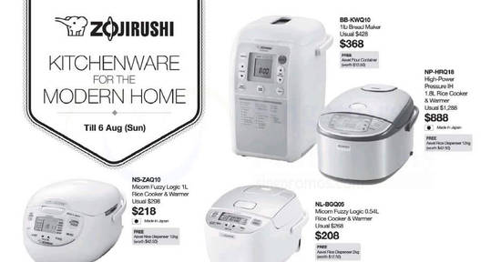 Zojirushi offers at feat 27 Jul 2017