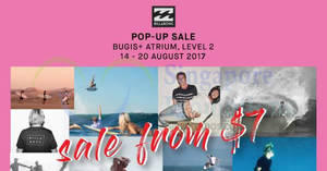 Featured image for Billabong pop-up sale at Bugis+ Atrium! From 14 – 20 Aug 2017