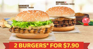 Featured image for Burger King: Double taste of Singapore – $7.90 for two burgers! From 26 Aug 2017