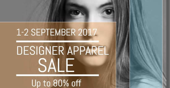 Designer apparel feat 31 Aug 2017