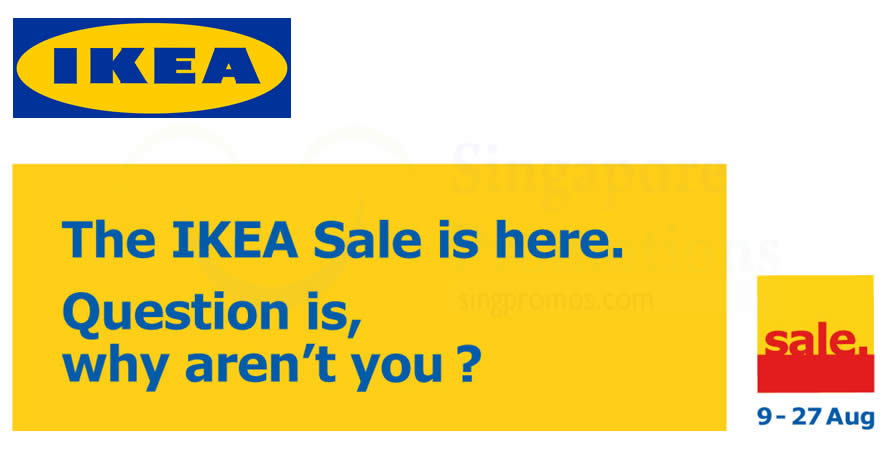 IKEA sale starts from 9 – 27 Aug 2017