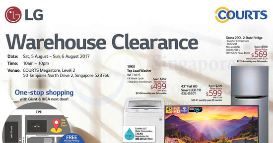 LG warehouse clearance feat 5 Aug 2017