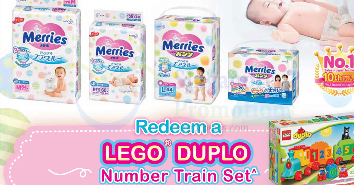 Merries x LEGO Duplo Number Train Set Promotion at FairPrice