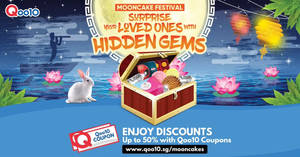 Featured image for Qoo10 Mooncake Festival from 31 Aug – 3 Sep 2017