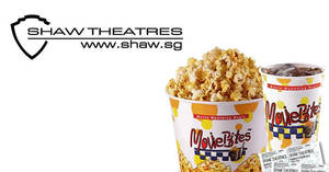 Shaw Theatres: Enjoy 50% discount off your Popcorn Combo treat when you book your movie tickets online from 13 – 22 July 2020