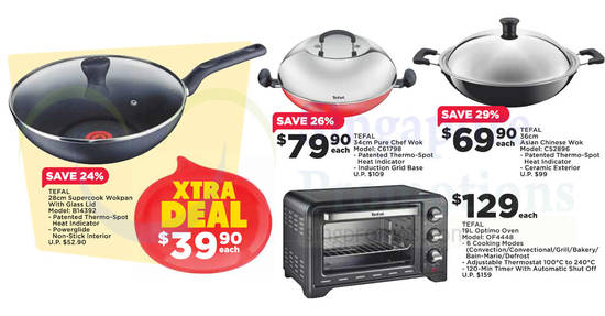 Featured image for Tefal: Up to 40% off offers at Fairprice from 24 Aug - 6 Sep 2017
