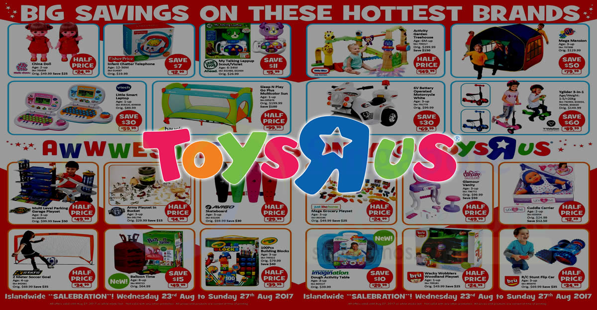 "15and Up Toys For Everyone : Toys ""r us islandwide half price specials on nearly"