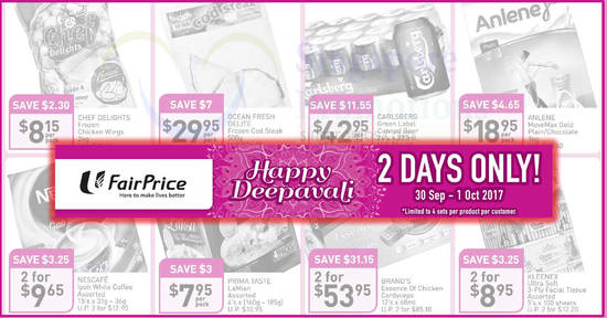Fairprice twodays offers feat 30 Sep 2017
