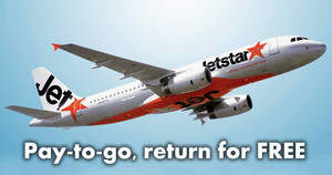 Jetstar: Pay-to-go, return for FREE promo to 20 destinations when you book by 16 Dec 2018