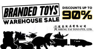 Featured image for Sheng Tai Toys warehouse sale returns with discounts of up to 90% off! From 27 Sep – 1 Oct 2017