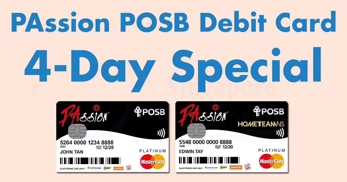 Takashimaya  PAssion POSB Debit cards can redeem a  10 voucher with every   140 spent! From 7 – 10 Sep 2017 f6e5ec2afd1