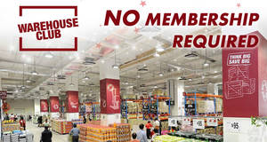 "FairPrice Warehouse Club is having a ""Shop without membership"" open house promo till 16 March 2021"