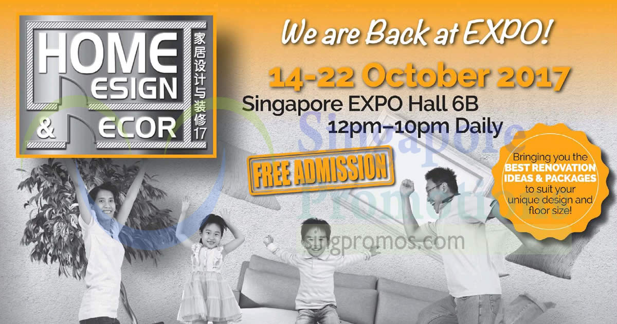 Home Design U0026 Decor Furnishing Fair At Singapore Expo! From 14 U2013 22 Oct 2017