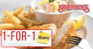 Swensen's: 1-FOR-1 mains is BACK – Fish & Chips, Sirloin Steak & more at ALL outlets! From 10 – 28 Sep 2018