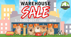 Featured image for Pets' Station's warehouse sale returns with discounts of up to 80% off! From 1 – 3 Dec 2017