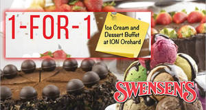 Swensen's: 1-FOR-1 Ice Cream and Dessert Buffet ALL-day from 25 – 29 Jun 2018