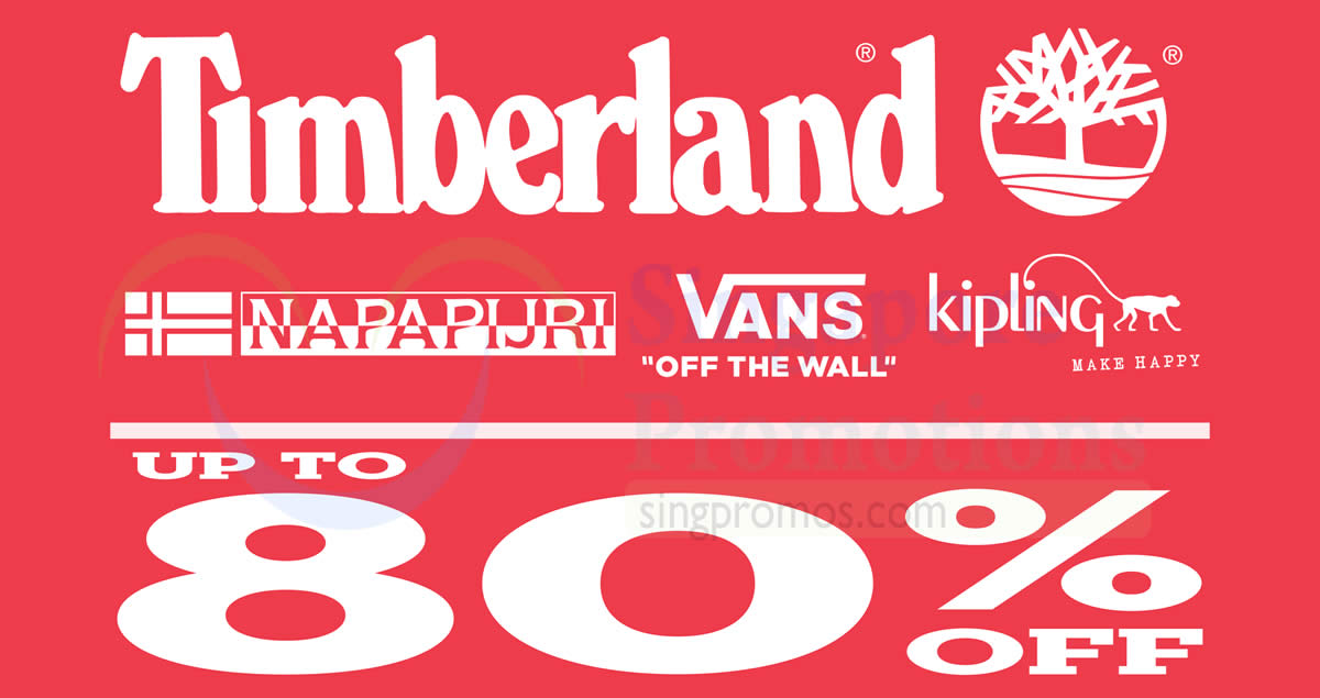 Timberland up to 80% OFF Expo sale! From 2 – 5 Nov 2017