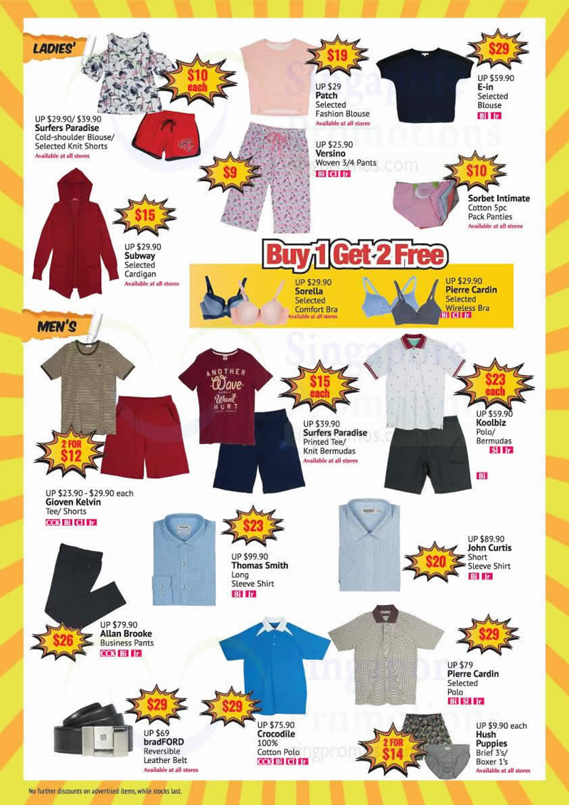 Bhg 15 to 80 off crazy bazaar sale at selected outlets for Bhg shopping