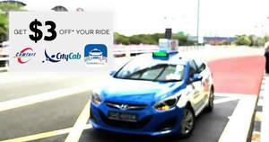 ComfortDelGro: $3 OFF weekday taxi fares promo code valid till 29 Jun 2018