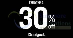 Featured image for Desigual: 30% OFF storewide Black Friday promo till 27 Nov 2017