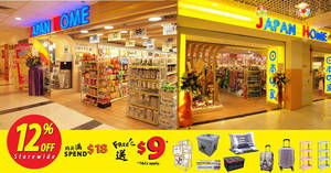 Featured image for Japan Home: 12% OFF storewide sale at all outlets! From 22 – 30 Nov 2017