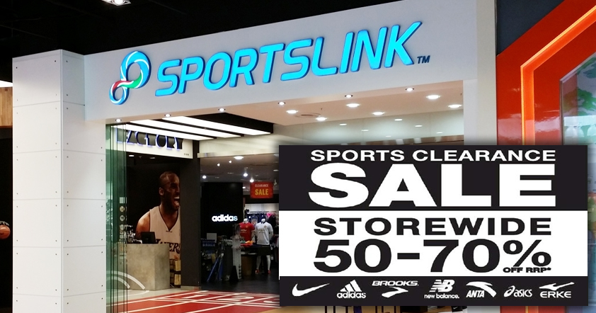 448ab4a83496 Sportslink 50% to 70% off STOREWIDE clearance sale at Ang Mo Kio! From 4  Nov 2017