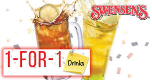 Swensen's: 1-FOR-1 drinks – Ice Cream Meltdown, Yogurt Smoothies & more – at ALL outlets! Valid from 23 – 27 Apr 2018