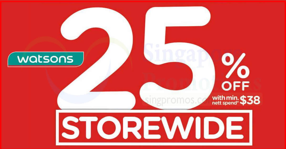Watsons Everyones invited Storewide 25 OFF with min  : Watsons feat 21 Nov 2017 from singpromos.com size 1200 x 629 jpeg 66kB