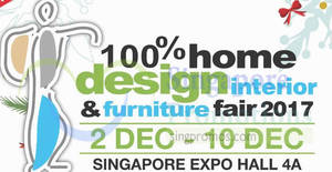 100 Home Design Furniture Fair 2017 At Singapore Expo From 2 10 Dec
